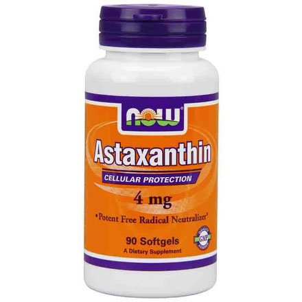Astaxanthin 4 mg, 90 Softgels, NOW Foods