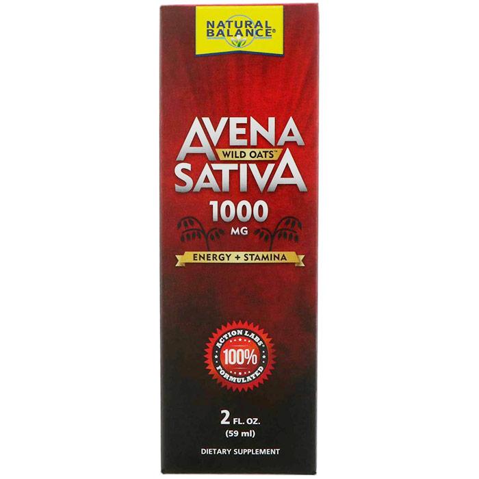 Avena Sativa Wild Oats Liquid 1000 mg, 2 oz, Natural Balance