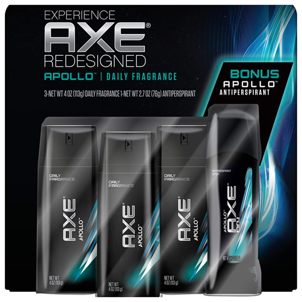AXE Daily Fragrance Deodorant Bodyspray & Antiperspirant Stick Bonus Pack - Apollo, 3/4 oz + 2.7 oz
