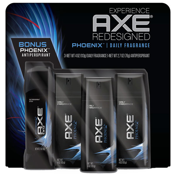 AXE Daily Fragrance Deodorant Bodyspray & Antiperspirant Stick Bonus Pack - Phoenix, 3/4 oz + 2.7 oz