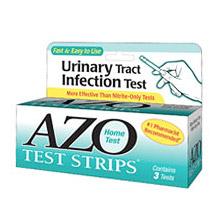 AZO Test Strip, Home UTI Test, 3 Strips, Amerifit