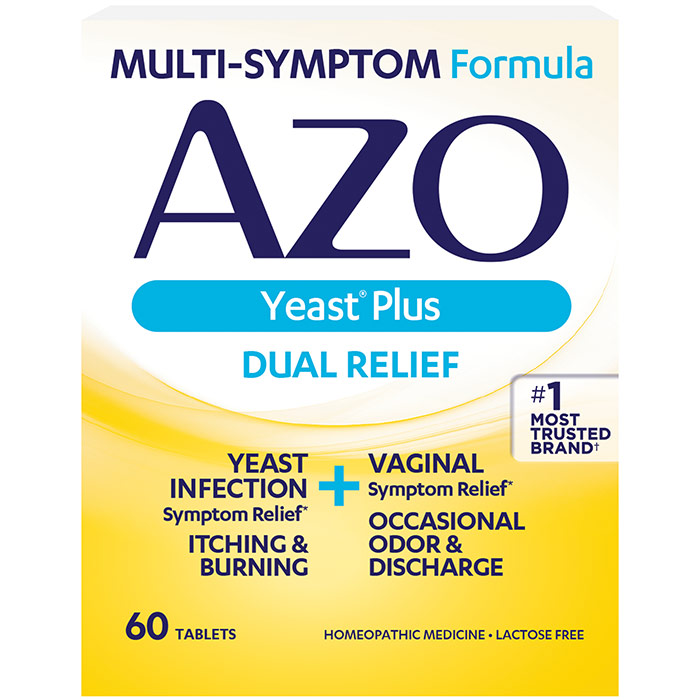 AZO Yeast, Vaginal Yeast Infection Relief, 60 Tablets, Amerifit