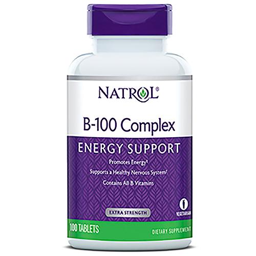 B-100 Complex (Vitamin B Complex) 100 tabs from Natrol