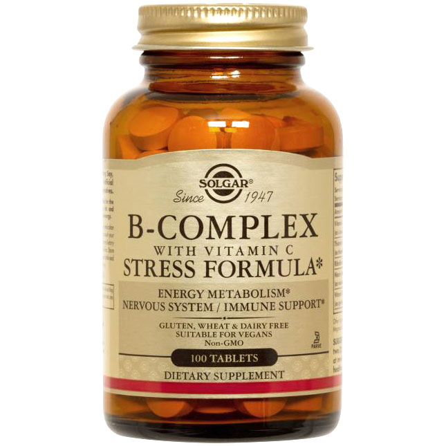 B-Complex with C Stress Formula, 100 Tablets, Solgar