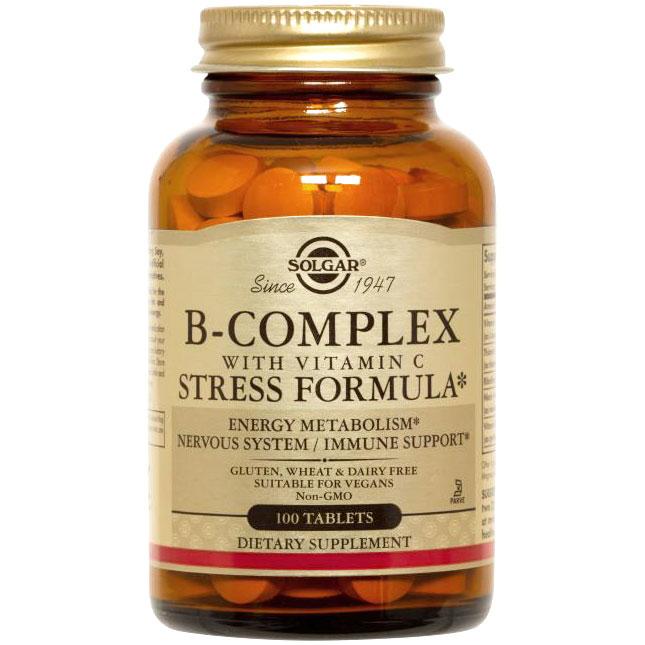 B-Complex with C Stress Formula, 250 Tablets, Solgar