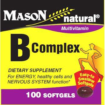 Vitamin B Complex, 100 Softgels, Mason Natural