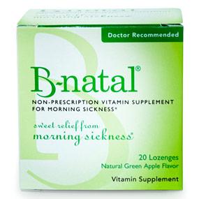B-natal Lozenges, Vitamin B6 for Morning Sickness, Green Apple Flavored, 28 Lozenges, Everidis Health Sciences