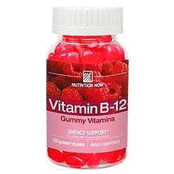 Chewable Vitamin B-12 - Adult Gummy Vitamin, 100 Chews, Nutrition Now