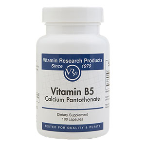 B5 (Calcium Pantothenate), 545 mg, 100 Capsules, Vitamin Research Products - CLICK HERE TO LEARN MORE