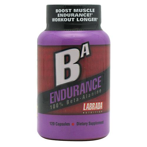 BA Endurance, 100% Beta-Alanine, 120 Capsules, Labrada Nutrition