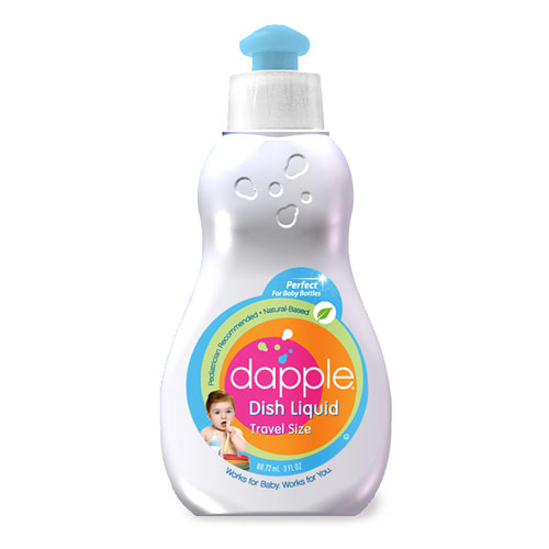 Baby Bottle & Dish Liquid, Travel Size, 3 oz x 12 pc, Dapple