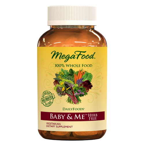 Baby & Me Herb-Free, Whole Food Prenatal Vitamins, 120 Tablets, MegaFood