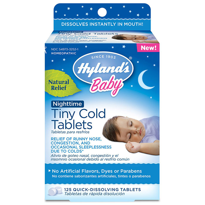 Baby Nighttime Tiny Cold Tablets, 125 Quick-Dissolving Tablets, Hyland's