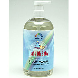 Baby Oh Baby Organic Herbal Baby Body Wash, Scented, 8 oz, Rainbow Research