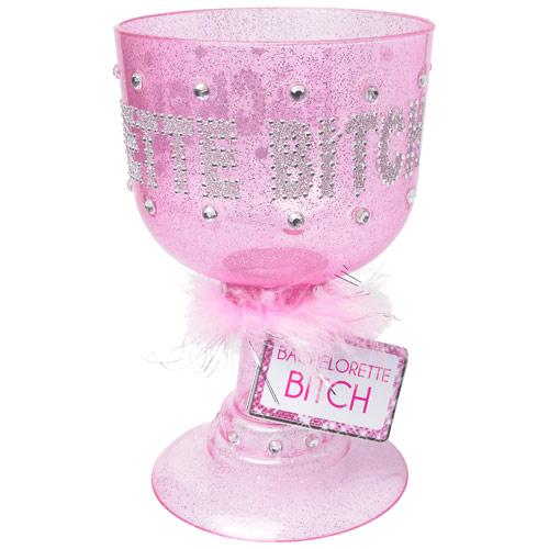 Bachelorette Party Favors Bachelorette Bitch Pimp Cup, Pink, Pipedream Products