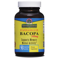 Bacopa 500 mg, 90 Vegetarian Capsules, Natures Answer