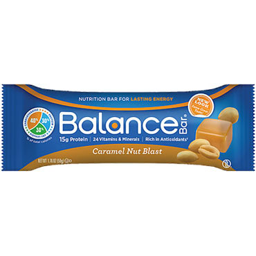 Balance Gold Nutrition Bar - Caramel Nut Blast, 1.76 oz x 6 Bars, Balance Bar