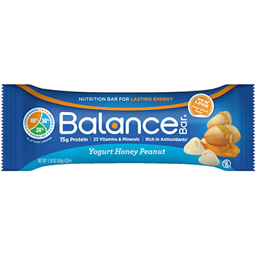 Balance Original Nutrition Bar - Yogurt Honey Peanut, 1.76 oz x 6 Bars, Balance Bar