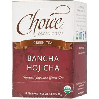 Bancha Hojicha, Roasted Japanese Green Tea, 16 Tea Bags, Choice Organic Teas