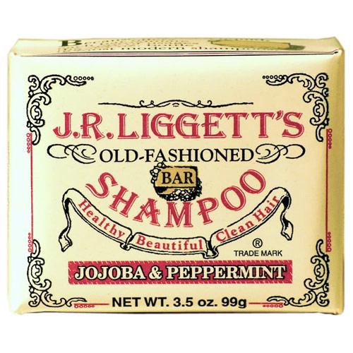 Old-Fashioned Bar Shampoo, Jojoba & Peppermint, 3.5 oz, J.R. Liggetts