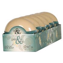 Bar Soap, Green Tea, 6 x 6.4 oz, Pure & Basic