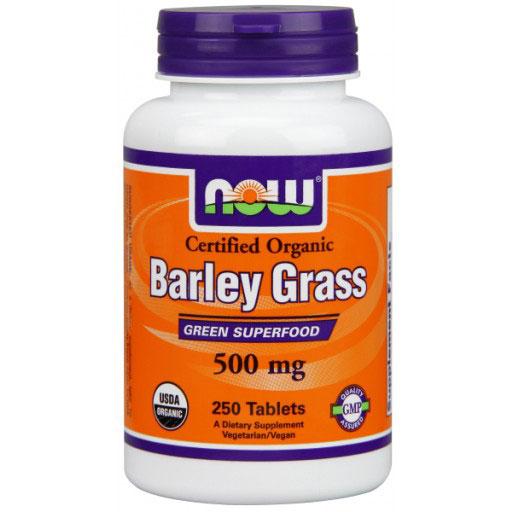 Barley Grass 500mg, Organic Barleygrass 250 Tabs, NOW Foods
