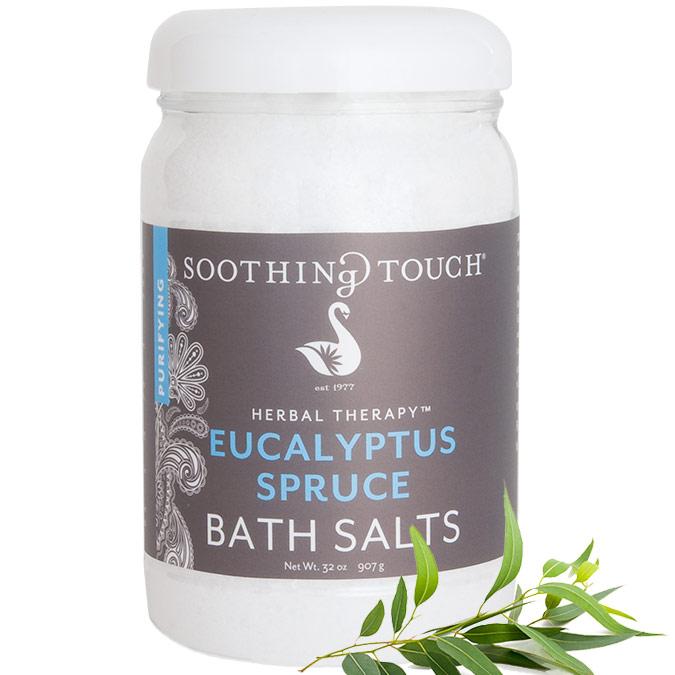 Bath Salts - Eucalyptus Spruce, 32 oz, Soothing Touch