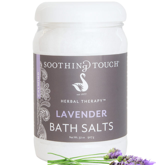 Bath Salts - Lavender, 32 oz, Soothing Touch