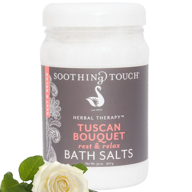 Bath Salts - Tuscan Bouquet, 32 oz, Soothing Touch