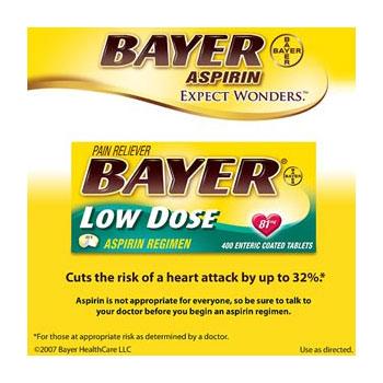 Bayer Aspirin Regimen Low Dose 81mg, 400 Tablets, Safety Coated Delayed Release