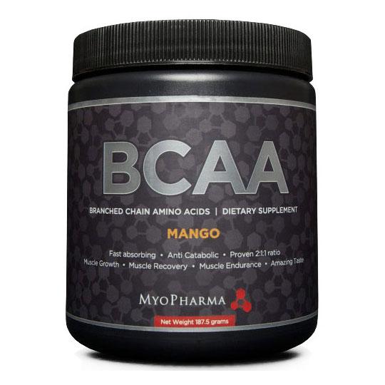 BCAA, Branched Chain Amino Acid, 187.5 g, MyoPharma