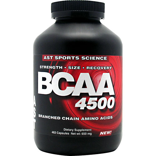 BCAA 4500, Branched Chain Amino Acids, 462 Capsule, AST Sports Science