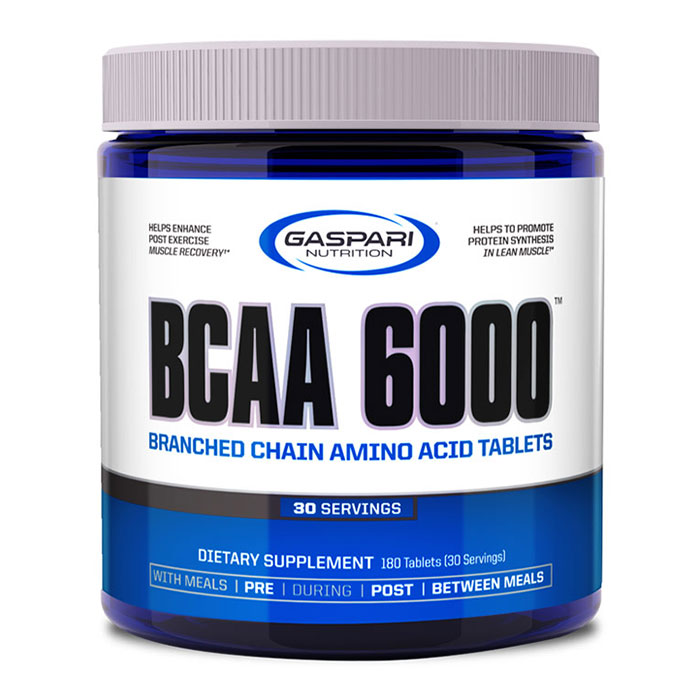 BCAA 6000, 180 Tablets, Gaspari Nutrition
