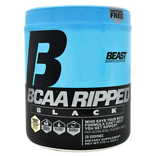 BCAA Ripped Black, Caffeine Free, 220 g (20 Servings), Beast Sports Nutrition
