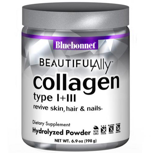Beautiful Ally Collagen Type I + III Hydrolyzed Powder, 6.9 oz, Bluebonnet Nutrition