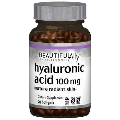 Beautiful Ally Hyaluronic Acid 100 mg, 90 Softgels, Bluebonnet Nutrition