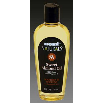 Hobe Naturals Sweet Almond Oil, 4 oz, Hobe Labs