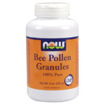 Bee Pollen Chinese Granules 8 oz, NOW Foods