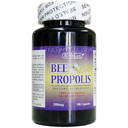 Bee Propolis 500 mg, 100 Capsules, K-Max