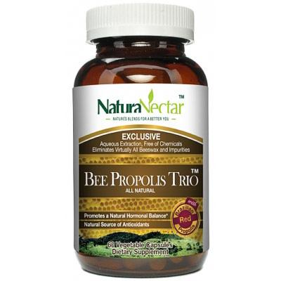 Bee Propolis Trio, 60 Vegetable Capsules, NaturaNectar