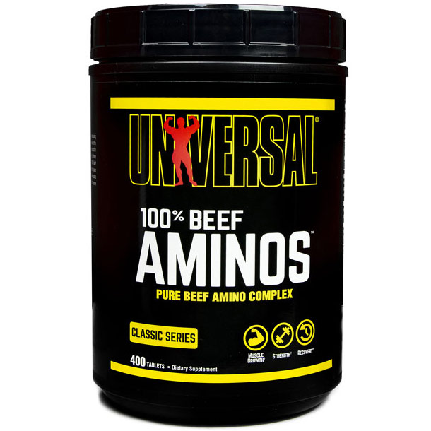 100% Beef Aminos, Value Size, 400 Tablets, Universal Nutrition