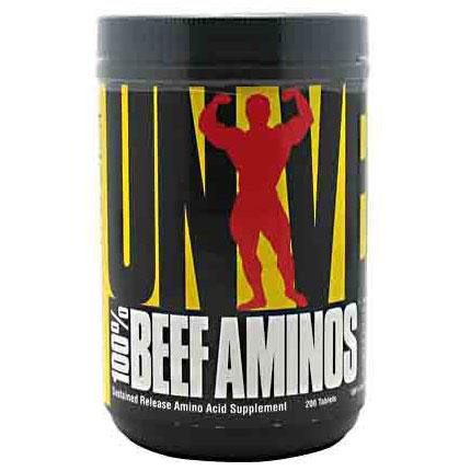 100% Beef Aminos, Superior Beef Amino Acids, 200 Tablets, Universal Nutrition