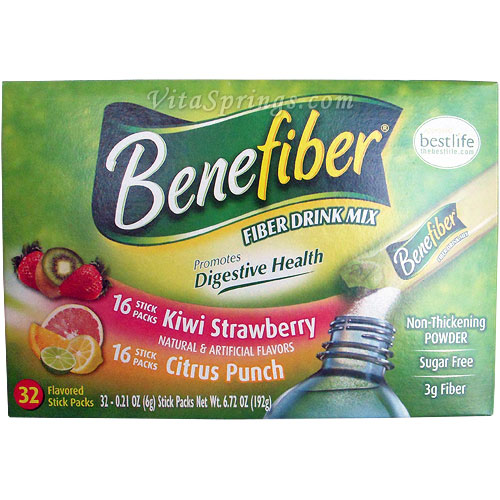 Benefiber Fiber Drink Mix Sugar Free, 32 Flavored Stick Packs
