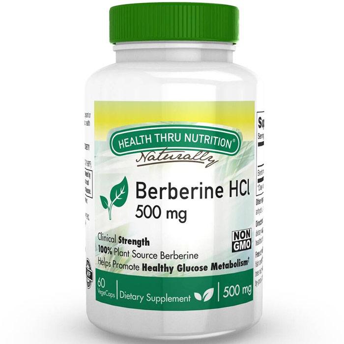Berberine HCL 500 mg, Value Size, 120 VegeCaps, Health Thru Nutrition