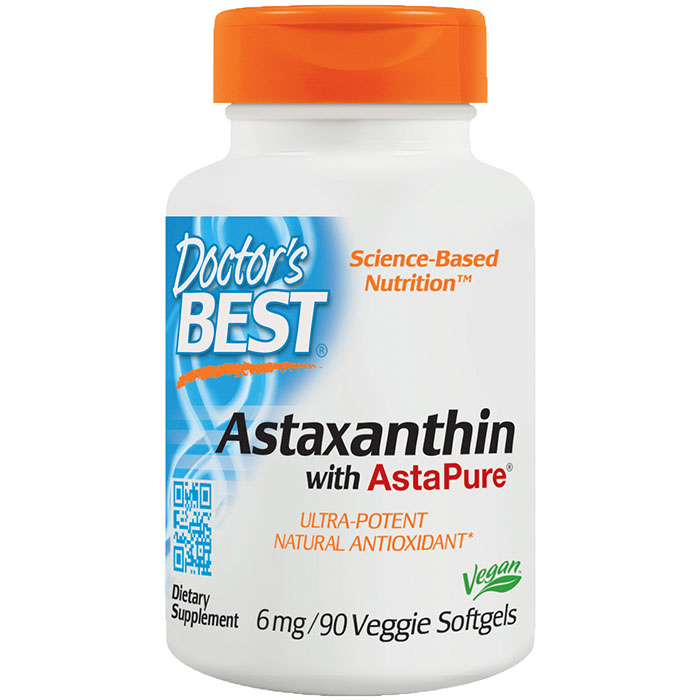 Best Astaxanthin 6 mg, Value Size, 90 Softgels, Doctor's Best