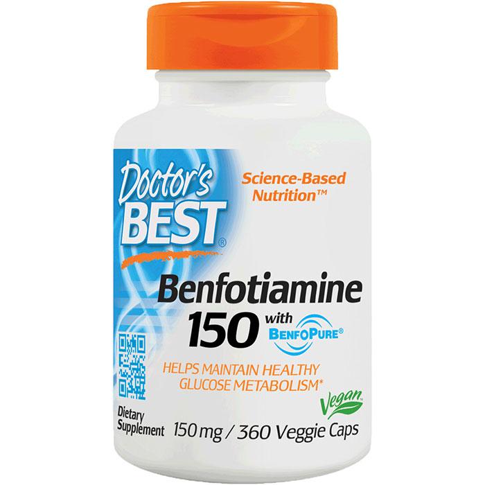 Benfotiamine 150 mg, 360 Vegetarian Capsules, Doctors Best
