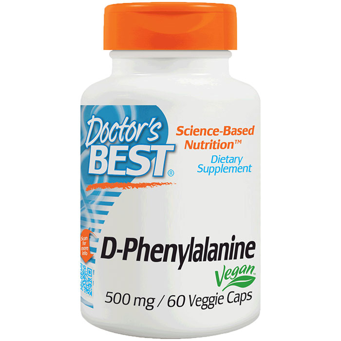 D-Phenylalanine 500 mg, 60 Veggie Caps, Doctors Best