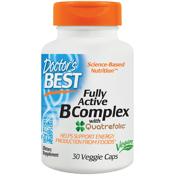 Fully Active B Complex, 30 Vegetarian Capsules, Doctors Best