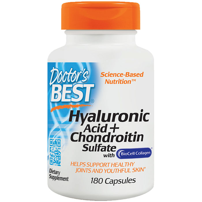 Hyaluronic Acid + Chondroitin Sulfate Caps, 180 Capsules, Doctors Best