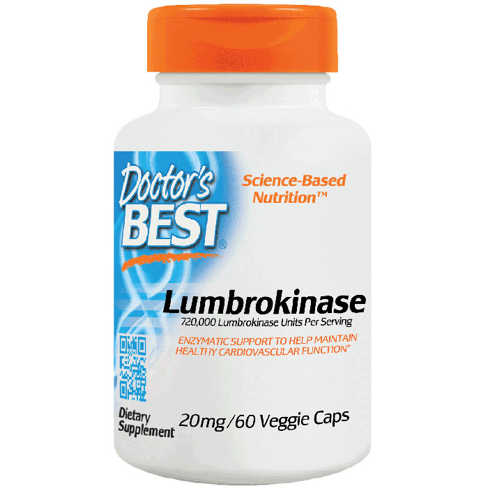 Lumbrokinase 20 mg, 60 Capsules, Doctors Best